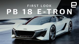 Audi's PB 18 E-Tron is a supercar spaceship