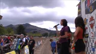 Ceilidh Rose sings National Anthem at Sonoma Mile Race 2013 - amazing, wow!