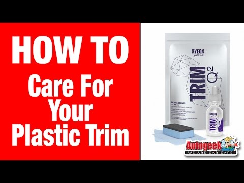 How to take care of your automotive plastic trim - Gyeon Trim Care