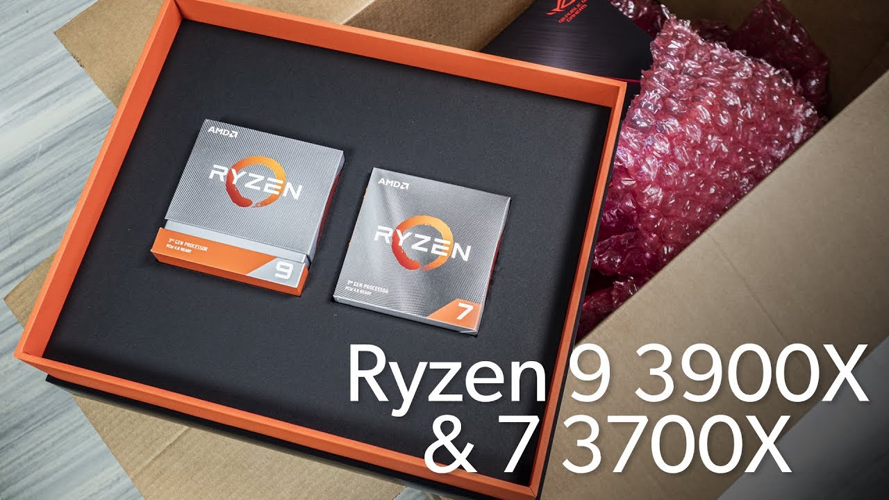 Amd Ryzen 9 3900x Ryzen 7 3700x Unboxing Youtube