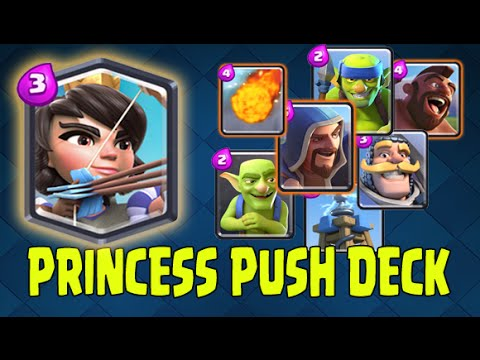 Clash royale princess push deck awesome control deck for Clash royale deck molosse