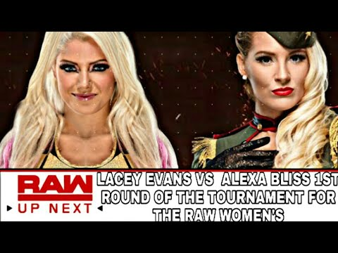 WWE 2K20|RAW LACEY EVANS VS ALEXA BLISS 1ST ROUND OF THE TOURNAMENT FOR THE RAW WOMEN'S TITTLE