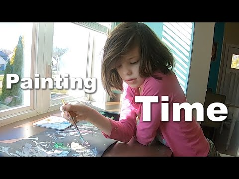 Autism| Painting with Help from Her Little Sister