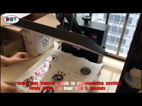 How To Use Heat Transfer Vinyl | 3D Heat Transfer Iron-on Patches Operation Instruction