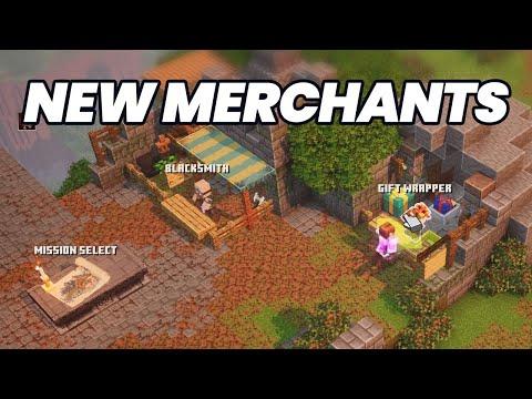 All New Merchants in Minecraft Dungeons Creeping Winter DLC