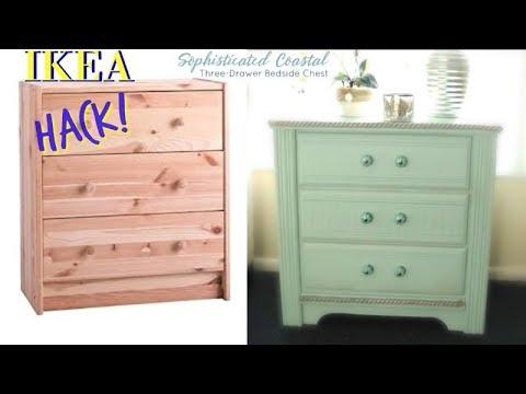 diy ikea rast hack coastal nightstand youtube. Black Bedroom Furniture Sets. Home Design Ideas