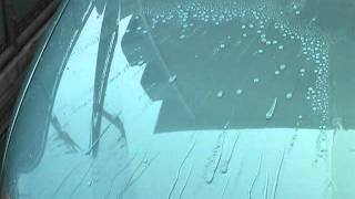 ガラスコーティング 撥水性と親水性の比較