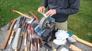 A Day By The Grinding Wheel Sharpening Knives - Jonas Vildmark
