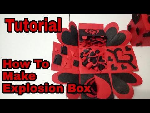 How To make/Decorate parts of Explosion Box ..Tutorial. ArtsHub Handmades