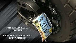 INDIAN SCOUT BOBBER CURVED LICENSE PLATE BRACKET thumbnail