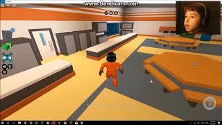 Playing Jail Break in Roblox