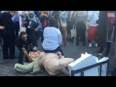 Fight Breaks Out In New York Over Naked Hillary Clinton Statue