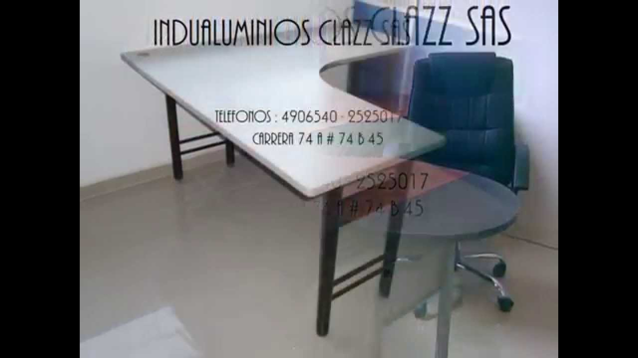 Bogota indualuminios clazz sas fabrica muebles para for Muebles de oficina 3d max
