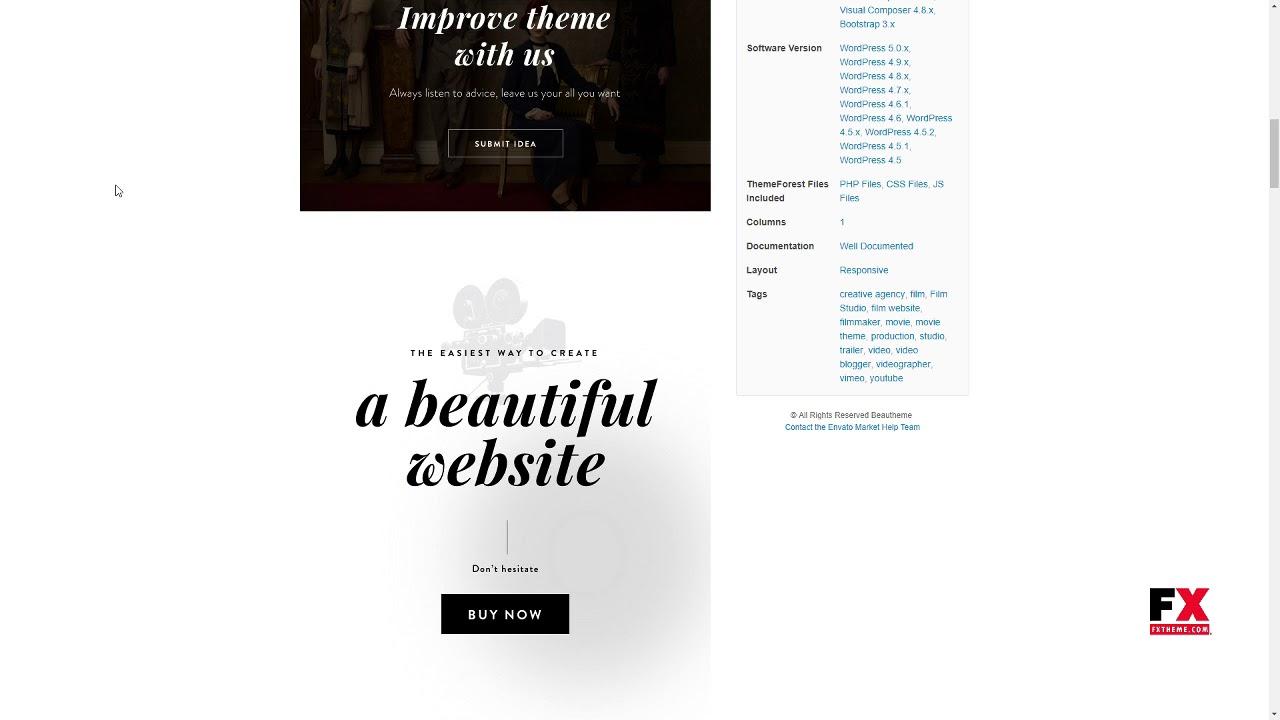 FilmMaker WordPress Theme: Film Studio - Movie Production - Video Blo