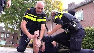 Spectaculaire heterdaadoefening politie in Nederweert