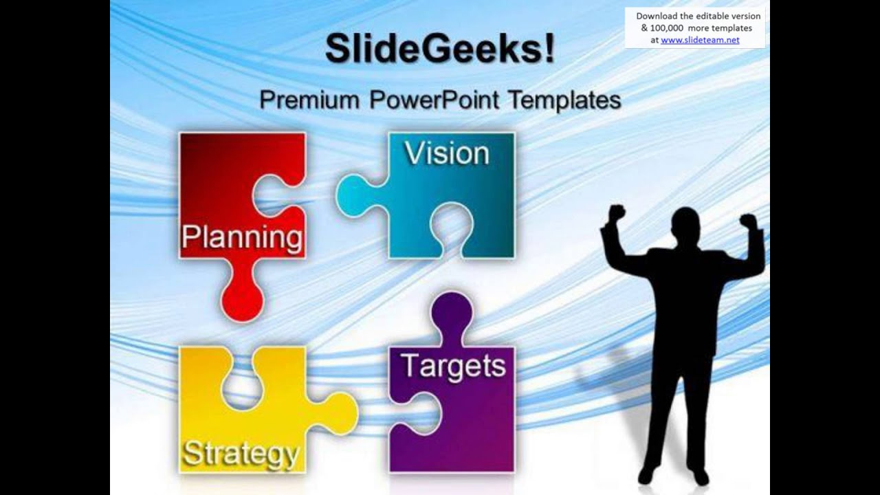 it strategic plan template powerpoint - puzzle strategy planning business powerpoint templates and