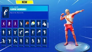 "NEW ""SUN TAN SPECIALIST"" Skin Showcased with 80+ Dances/Emotes 