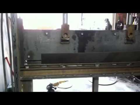 7ft Homemade Press Brake Youtube