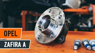 rear and front Wheel bearing kit installation OPEL ZAFIRA: video manual