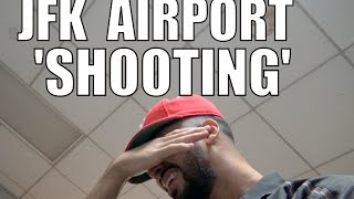 "JFK AIRPORT ""SHOOTING"" CAUGHT ON CAMERA!!"