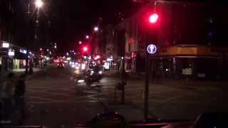 A nightime journey from Victoria coach station to M1 North (1 of 4)