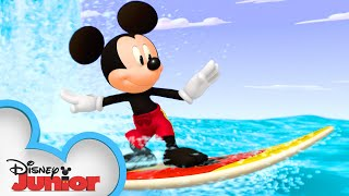 Surf's Up, Mickey! 🏄♂️ | Mickey Mouse Hot Diggity Dog Tales | Disney Junior