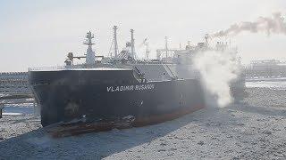 日本初の砕氷LNG船就航  商船三井、北極海航路で