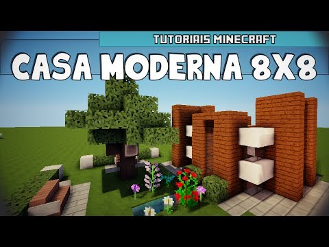 Tutoriais minecraft como construir uma casa moderna 08x08 for Casa moderna 10x10 minecraft