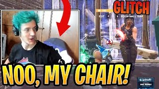 Ninja Rages So HARD at *NEW* Pyramid GLITCH He Almost BREAKS His Chair! - Fortnite Moments