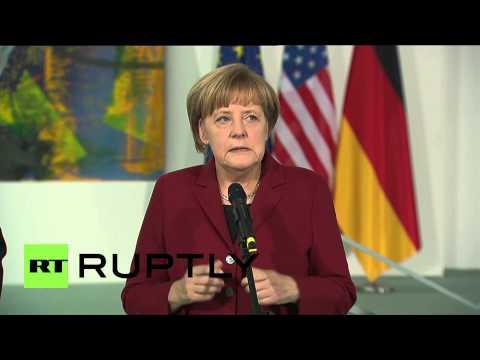 Germany: Kerry and Merkel meet in Berlin for Ukraine talks