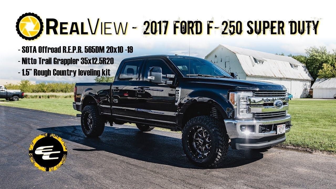 small resolution of 2017 ford f 250 super duty 20x10 sota offroad wheels 35x12 5r20 nitto tires rough country 1 5 inch suspension leveling kit