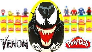 Venom Sürpriz Yumurta Oyun Hamuru Venom Oyuncak Avengers Oyuncakları