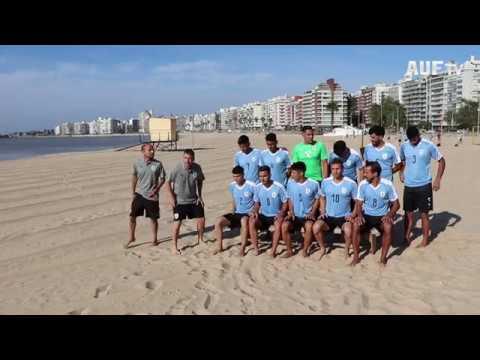 Backstage de las fotos oficiales de la selección uruguaya de fútbol playa