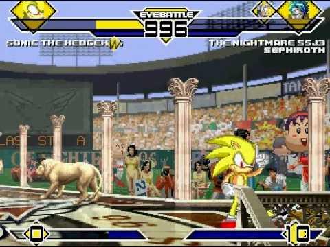 Sonic(me) vs Broli SSJ3 and Sephiroth MUGEN Battle!!!
