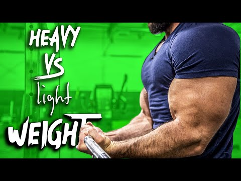 Light vs Heavy Weight For Building Muscle | ONE CLEAR WINNER