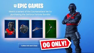 Unlocking *NEW* OG $1000 skin! (EXCLUSIVE) New Counterattack Stealth Set Variant Gameplay Fortnite