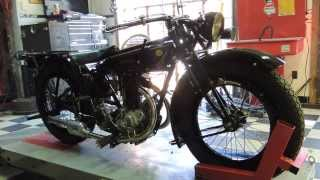 1927 Rudge-Whitworth 4 speed 4 valve, Starting Instructions, Sinless Cycles. Video