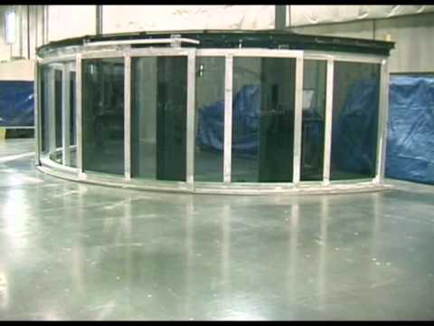 Large Powered Curved Sliding Yacht Door Youtube