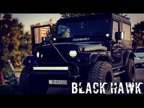 Mahindra Thar ( BLACK HAWK) full huge rear bumper must watch