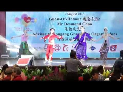 Singapore Cultural Dance (Chinese, Malay, Indian and Eurasian Hormony)
