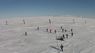 Drone captures epic rugby match in Arctic