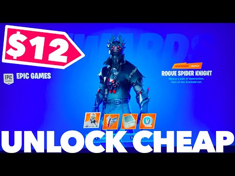 How To Get The Rogue Spider Knight For CHEAP In Fortnite | Fortnite Rogue Spider Knight Bundle