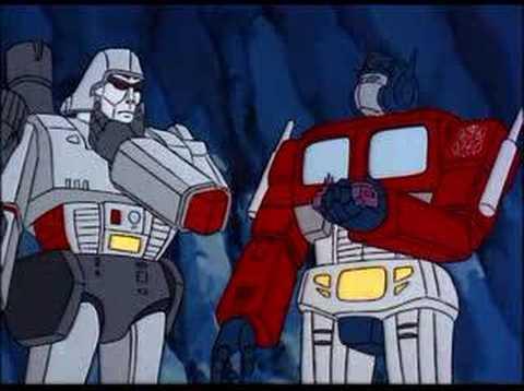 Megatron and optimus prime team up youtube - Transformers cartoon optimus prime vs megatron ...