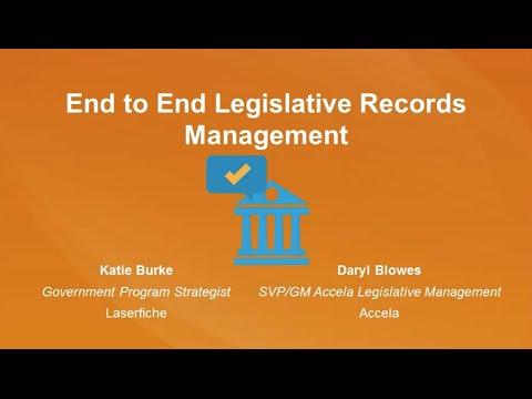 [Webinar Recording] End to End Legislative Records Management