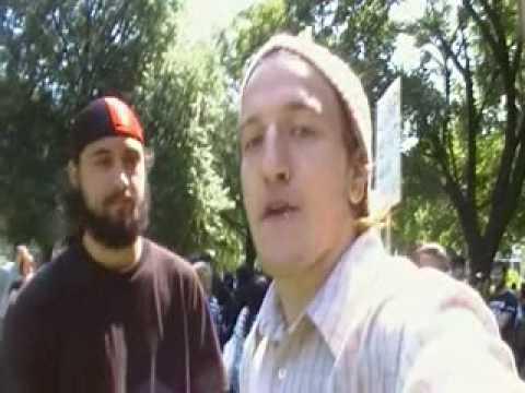 Black Bloc Anarchist Group Confronts GRLA Cameraman