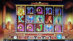 Online Casino LeoVegas - Book of Dead mit Einzahlungsfreispielen, danach Gewinn bei Legacy of Dead!
