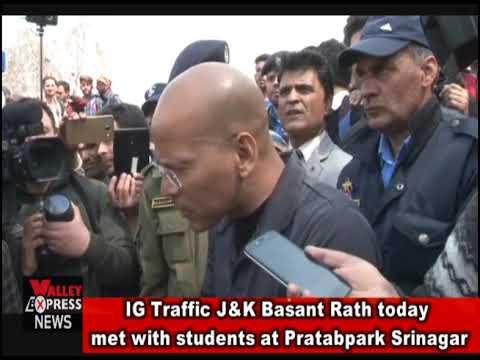 IG Traffic J&K Basant Rath today met with students at Pratabpark Srinagar
