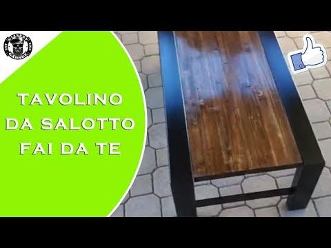 Pallet In Metallo.Fai Da Te Tavolino Da Salotto Pallet Tavolino Metallo E Legno