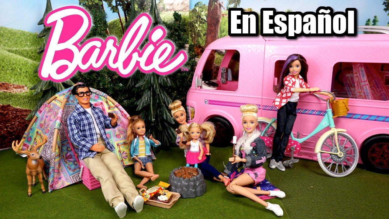 Familia Barbie Aventuras de Campamento - Camper Dreamhouse - Juguetes de Titi