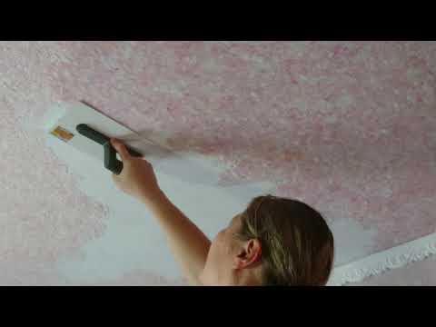 Жидкие обои как наносить на потолок / Liquid wallpaper how to apply on the ceiling